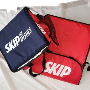 Insulated Skip Dishes Tote Bags Pizza Fast Food